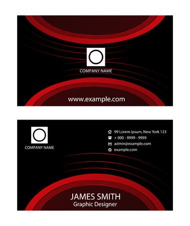 business card: Elegant business card design