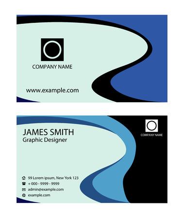 blue wave: blue wave business card