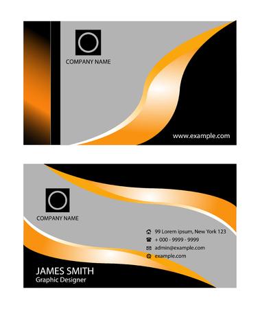 business card: Creative business card Illustration