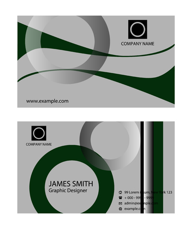 carte visite: Business card template Illustration