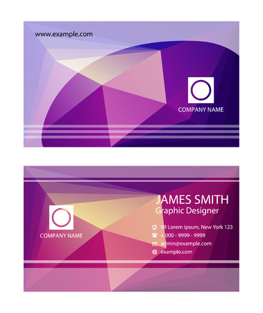 business card: Purple business card templates
