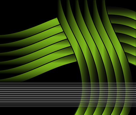 abstract template: Abstract wavy template green Vector design