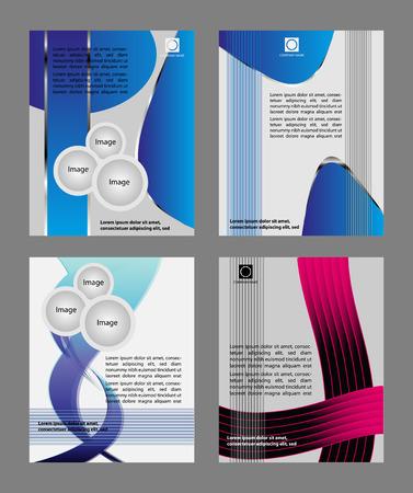 Vector flyer design background