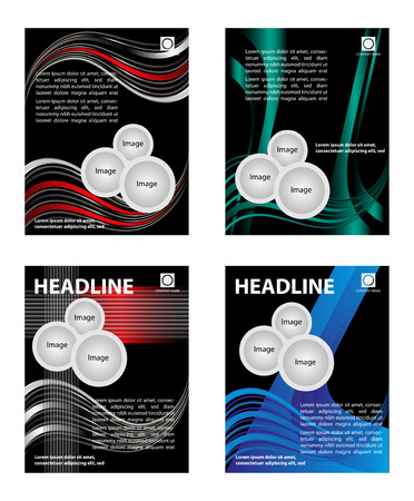commercial painting: Vector design of the red flyer black whit elements and place for text