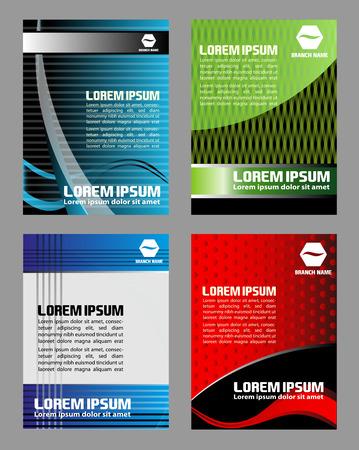 flyer layout: Vector design elements set of flyer Illustration
