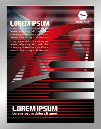 booklet design: Vector business brochure, flyer template