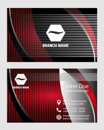 business card: Abstract business card