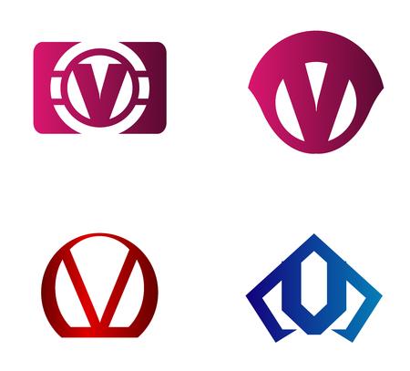 v shape: Letter V design template elements icon