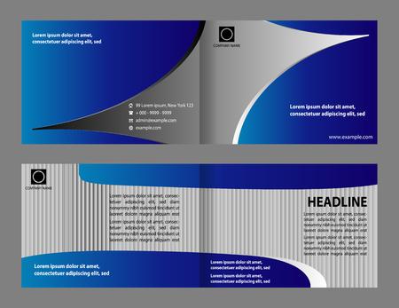 magenta: booklet catalog brochure folder