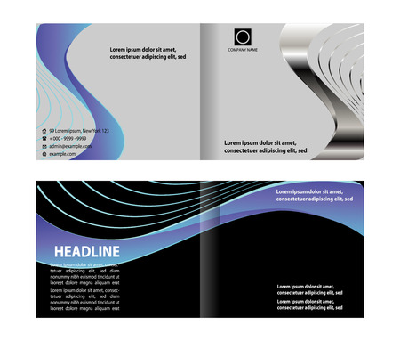 bifold: Abstract bi-fold brochure