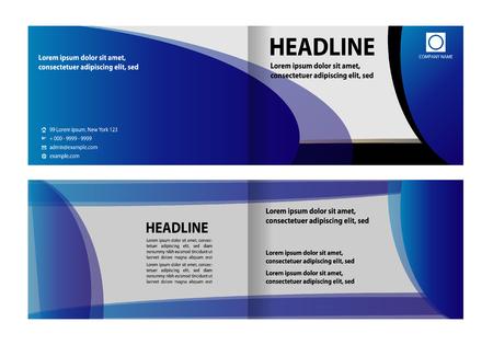 bifold: Bi-Fold Brochure Design. Corporate Leaflet, Cover Design Template