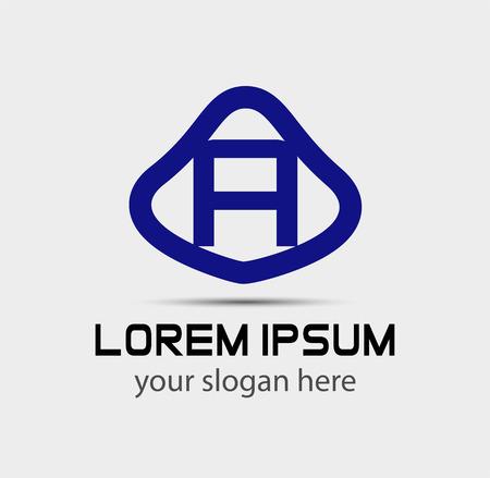 radon: Letter A logo design template Illustration