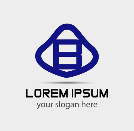 radon: Letter B logo design template Illustration