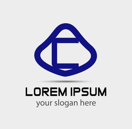 radon: Letter C logo design template