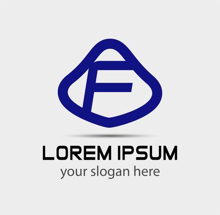 radon: Letter f logo design template