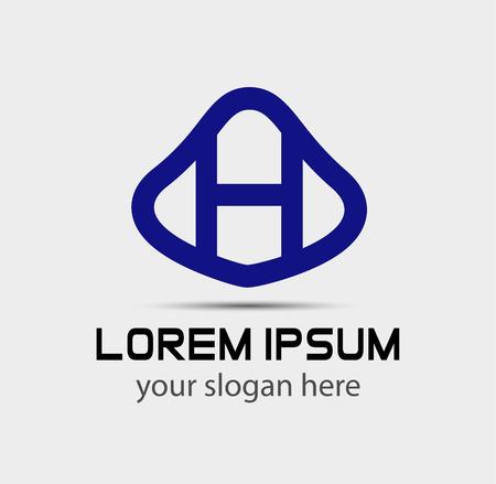 radon: Letter H logo design template