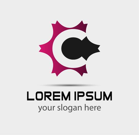 Lettre c logo icon éléments de modèle de conception