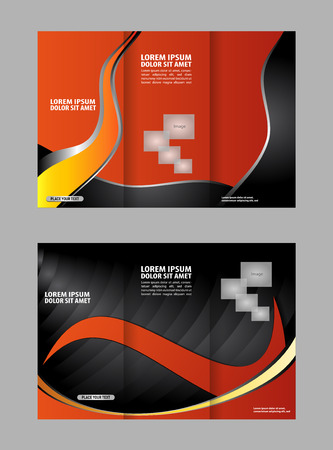 for advertising: Black and orange template for advertising brochure