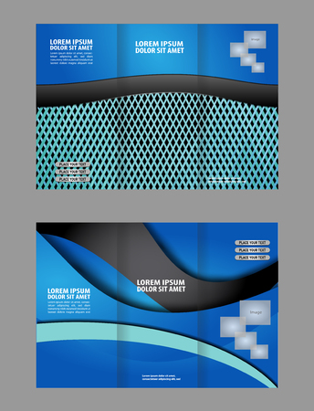 the publisher: brochure folder leaflet abstract element