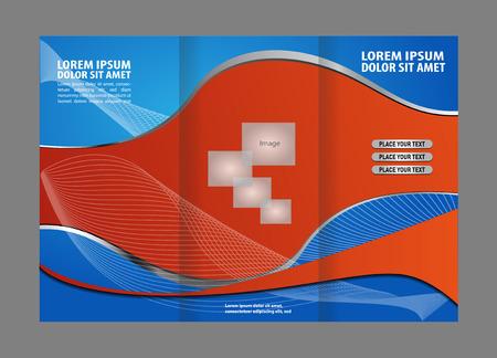 spread sheet: Tri-fold business brochure