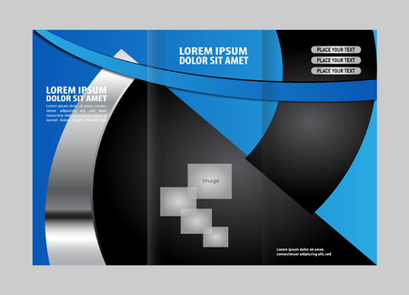publishing: Professional business three fold flyer template, corporate brochure or cover design, can be use for publishing, print and presentation.