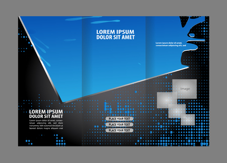 publisher: brochure design template vector trifold abstract