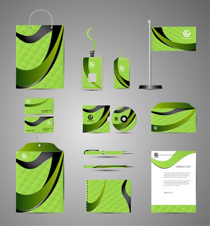 documentation: Corporate identity branding template. Vector stationery design Business documentation
