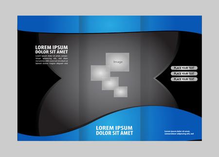 tri fold: tri fold business brochure template Illustration