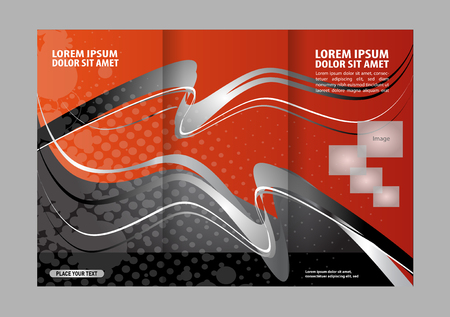 rec: Vector rec brochure template design tri-fold