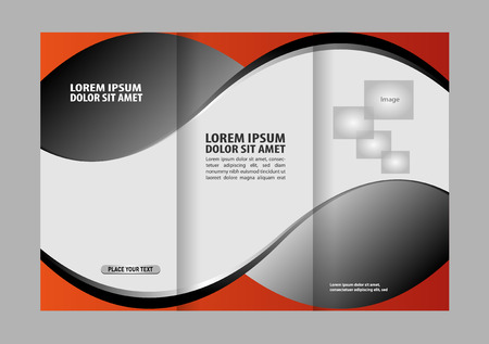 rec: Vector rec brochure template design tri-fold