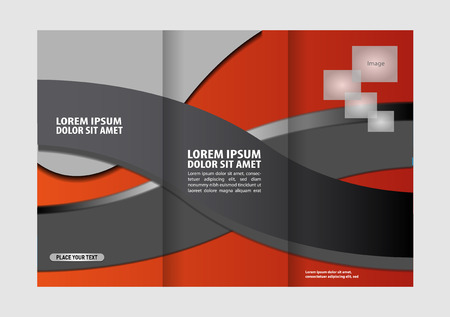 swish: Custom tri-fold brochure template Works great for either the inside or outside of the brochure. Illustration