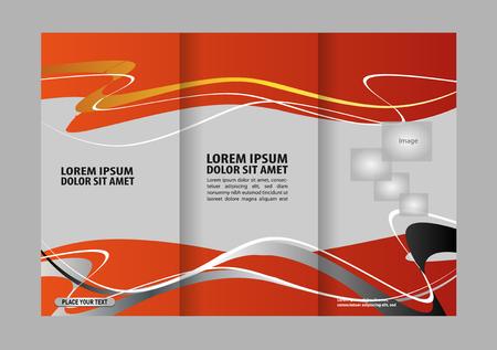 fold: Brochure tri fold template