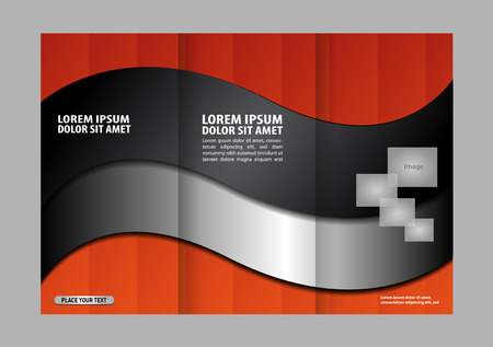 book publisher: brochure design template waves trifold
