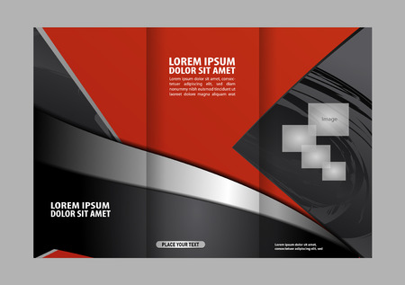 two page: Front and back presentation of professional Two page Business Trifold, Flyer, Banner or Template design.