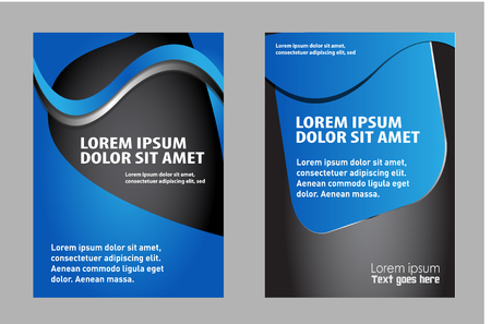 Abstract background with wave - brochure design or flyer Illustration