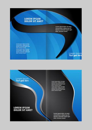 bifold: Vector empty bifold brochure print template design