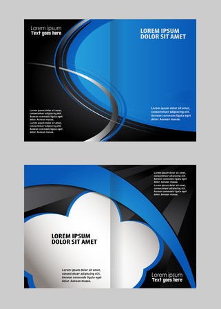 coworker banner: Template for advertising brochure