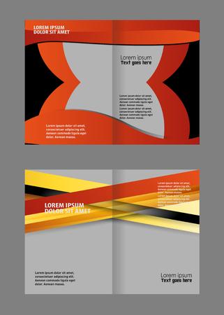 fold: brochure bi fold template