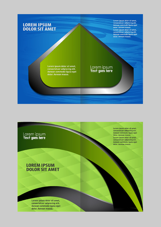 for advertising: Template for advertising brochure