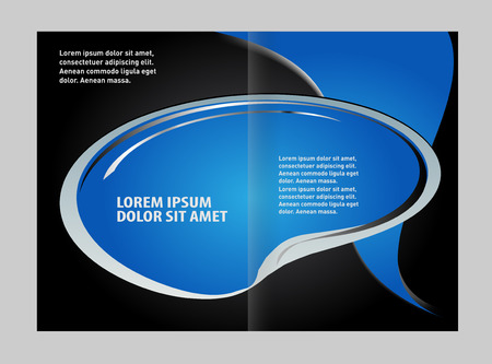 bifold: Colorful Bi-Fold Brochure Design. Corporate Leaflet, Cover Template