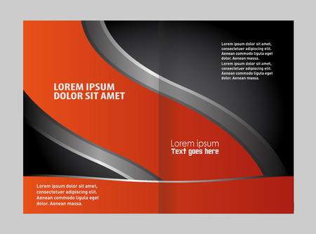 bifold: Bi-Fold Corporate Business Store Mock up & Brochure Design Illustration