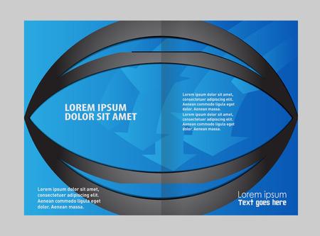 book publisher: vector business brochure, flyer template