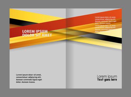 bi: brochure bi fold template