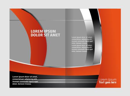 bifold: Bi-fold brochure template design, business leaflet, booklet