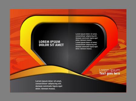 yelllow: Flyer template design