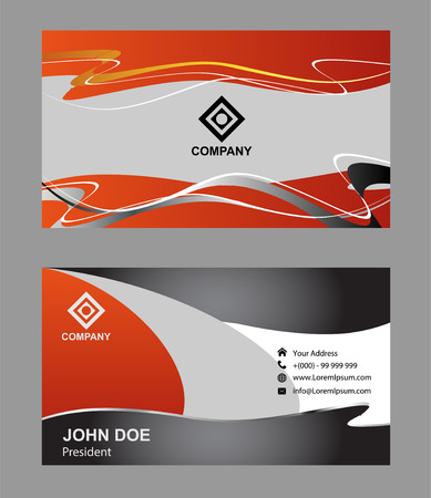 modern business: Modern business card Illustration
