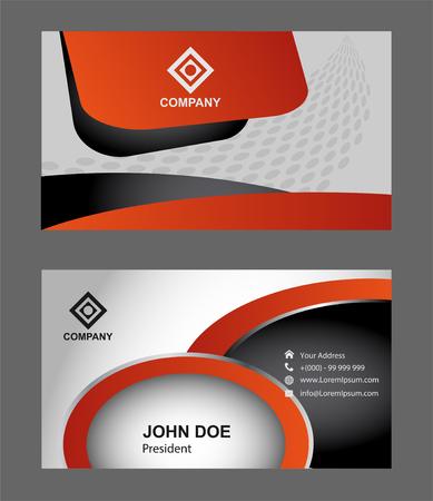modern business: Modern simple light business card Illustration