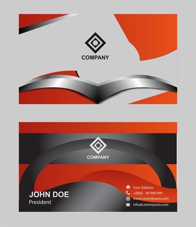 modern business: Business card modern design Illustration