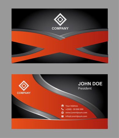 business cards: Corporate business cards template