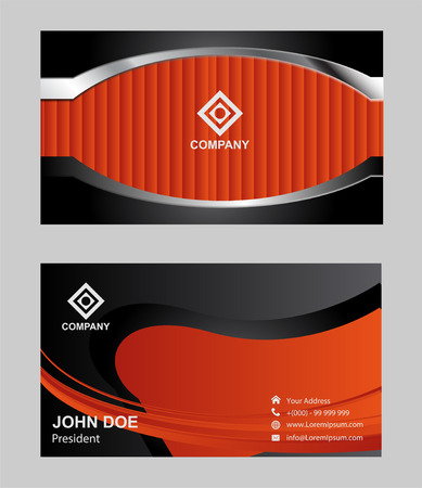 name calling: Modern business card Illustration